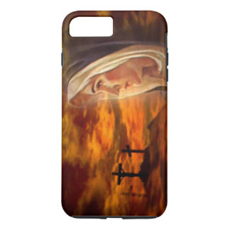 Blessed Virgin Mary Old Rugged Cross at Calvary iPhone 7 Plus Case