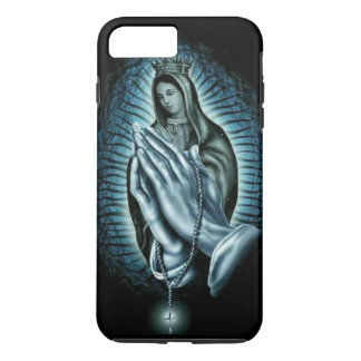 Blessed Virgin Mary Purple Prayer Rosary iPhone 7 Plus Case