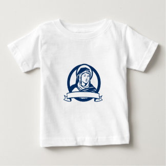Blessed Virgin Mary Scroll Retro Baby T-Shirt