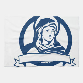 Blessed Virgin Mary Scroll Retro Hand Towels