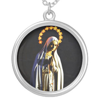 Blessed Virgin Mary Silver Plated Necklace