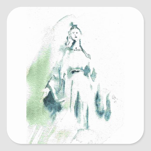 Blessed Virgin Mary Square Stickers