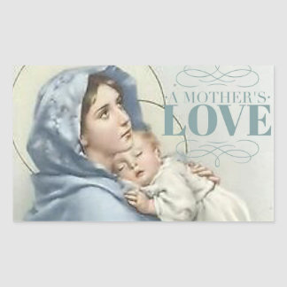 Blessed Virgin Mary with Baby Jesus Sticker