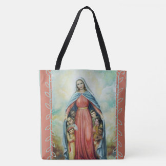 Blessed Virgin Mary with children Tote Bag