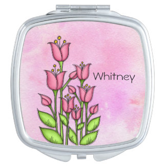 Blessed Watercolor Doodle Flower Mirror