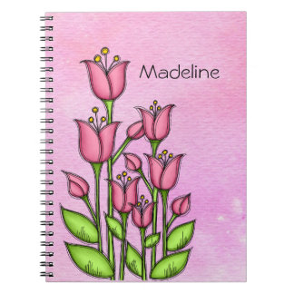 Blessed Watercolor Doodle Flower Notebook