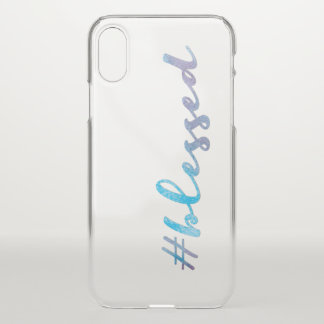 #Blessed, Watercolor Handlettering Script iPhone X Case
