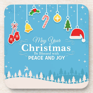 Blessed with Peace & Joy Christmas | Coaster