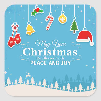 Blessed with Peace & Joy Christmas   Sticker Seal