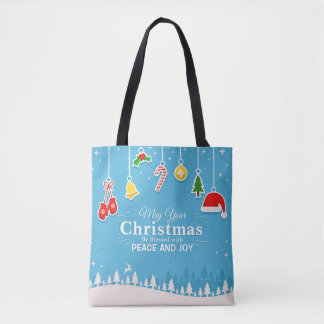 Blessed with Peace & Joy Christmas | Tote Bag