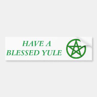 BLESSED YULE BUMPER STICKER