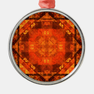 Blessing Abstract Art Round Silver-Colored Round Ornament