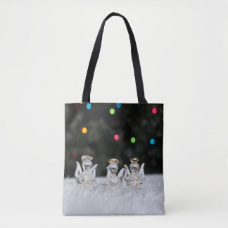Blessing Christmas Angels Tote Bag