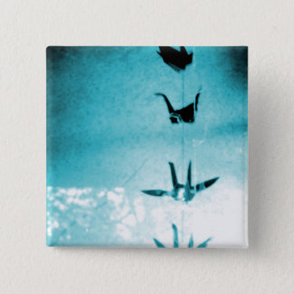 Blessing Cranes 2 Inch Square Button