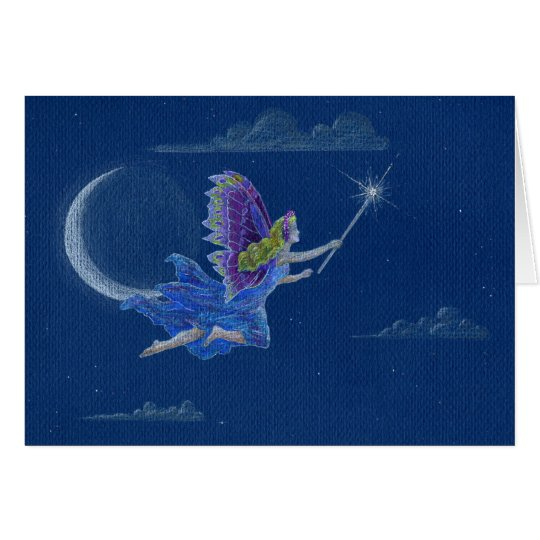 Blessing Fairy Coloured Pencil Drawing Card