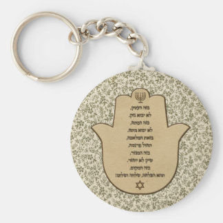 Blessing for Business in Hebrew Keychain