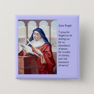 Blessing From Saint Brigid 2 Inch Square Button