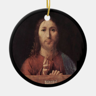 Blessing of Christ Round Ceramic Ornament