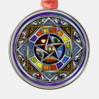 Blessing of Elements Premium Round Ornament