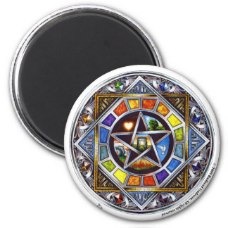 Blessing of Elements Round Magnet