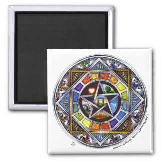 Blessing of Elements Square Magnet