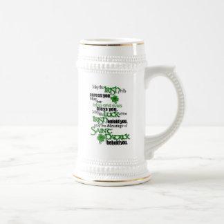Blessing Of Saint Patrick Beer Stein