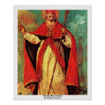 Blessing Of St. Nicholas By Guardi Francesco Poster