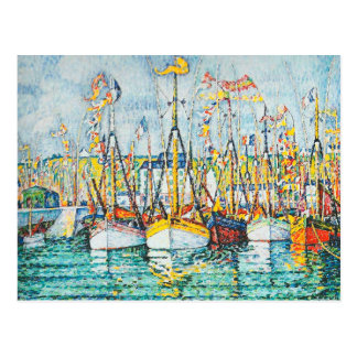 Blessing of The Tuna Fleet at Groix by Paul Signac Postcard