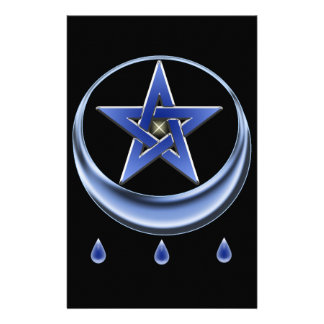 Blessing Symbol and pentagram Personalized Stationery