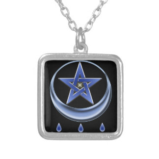 Blessing Symbol and pentagram Silver Plated Necklace
