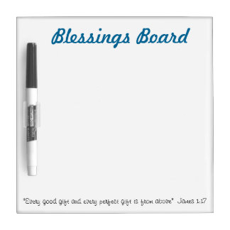 Blessings Board: Christian whiteboard ideas Dry-Erase Whiteboards