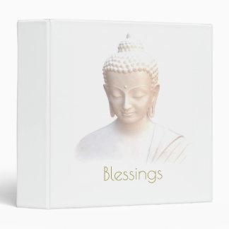 Blessings Buddha In White | Serene Meditative 3 Ring Binders
