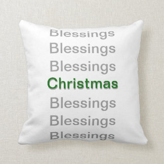 Blessings Christmas Blessings Throw Pillow