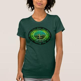 Blessings, Faith, Harmony Tree of Life in Green T-Shirt