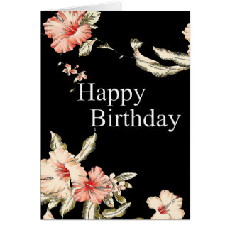 Blessings Hibiscus Birthday Card
