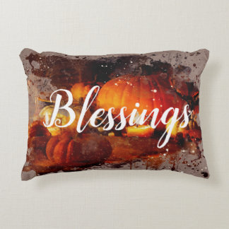 """Blessings"" Thanksgiving Decorative Decorative Pillow"