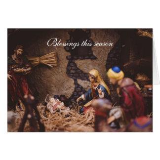 Blessings this Season - Religous Christmas Card