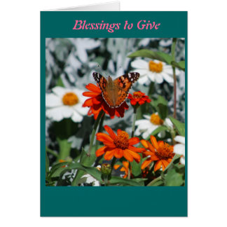 Blessings to give card