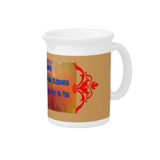 Blessings to You Beverage Pitcher