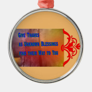 Blessings to You Metal Ornament