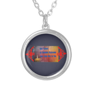 Blessings to You Silver Plated Necklace