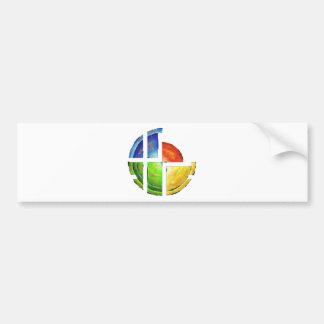 Blessinia - colourful sun bumper sticker