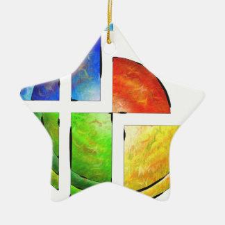 Blessinia - colourful sun ceramic star ornament