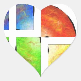 Blessinia - colourful sun heart sticker
