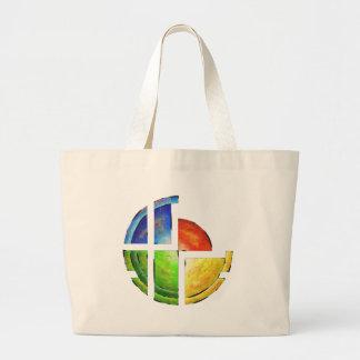 Blessinia - colourful sun large tote bag