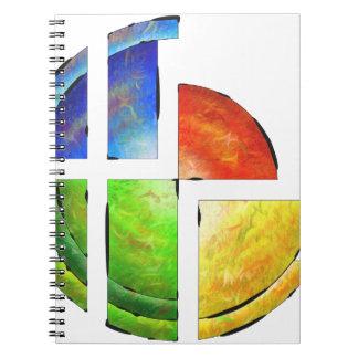 Blessinia - colourful sun notebooks