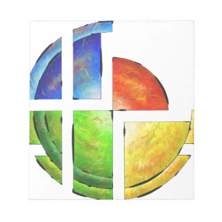 Blessinia - colourful sun notepad