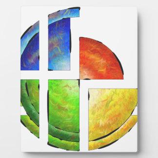 Blessinia - colourful sun plaque