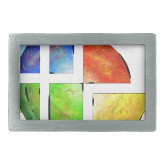Blessinia - colourful sun rectangular belt buckle