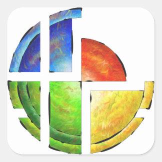 Blessinia - colourful sun square sticker